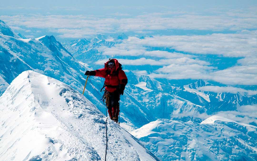 El Denali en Alaska es, con sus 6190 metros de altitud, la montaña más alta de América del Norte. A.B.