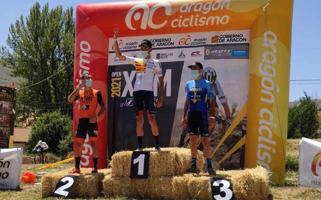 Jorge Lamiel logró el Campeonato de Aragón de XCM de la categoría élite. Foto. J.L.