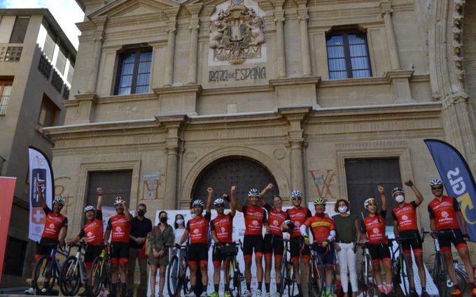 La vuelta ciclista solidaria 'Movimiento Ultreya' llega a Alcañiz