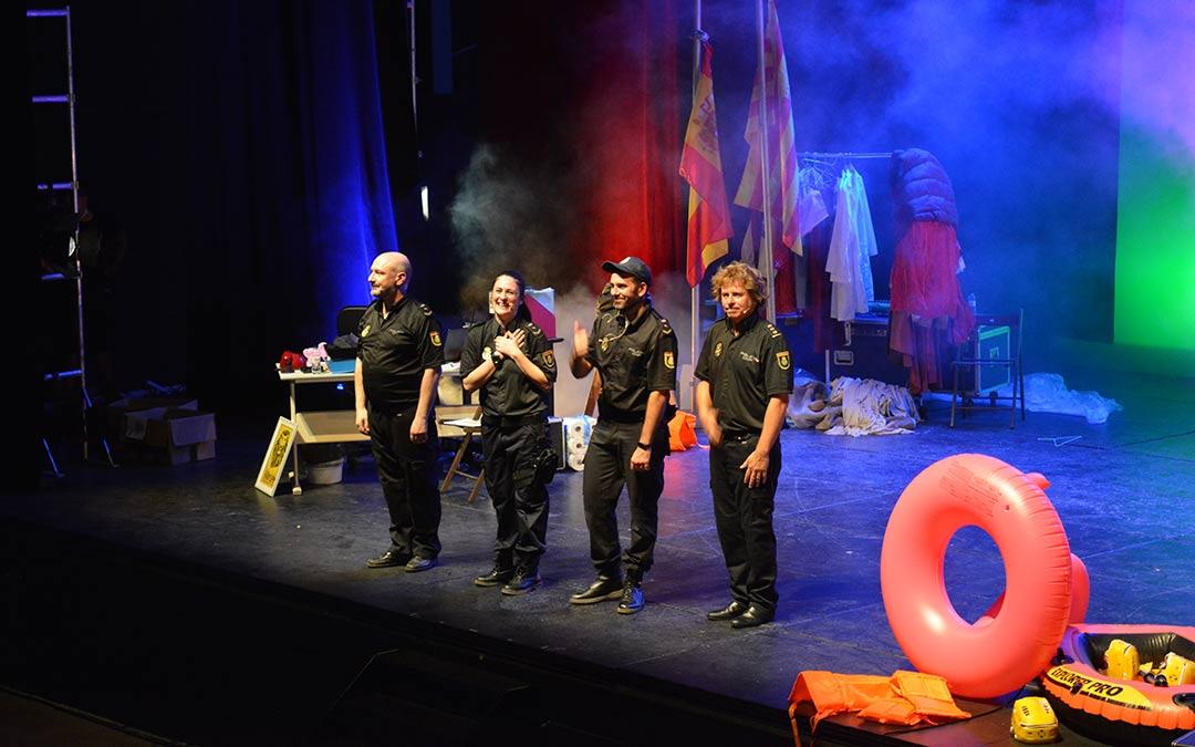 'Comisaría en fiestas' de Teatro Indigesto este sábado en Alcañiz./I.M.