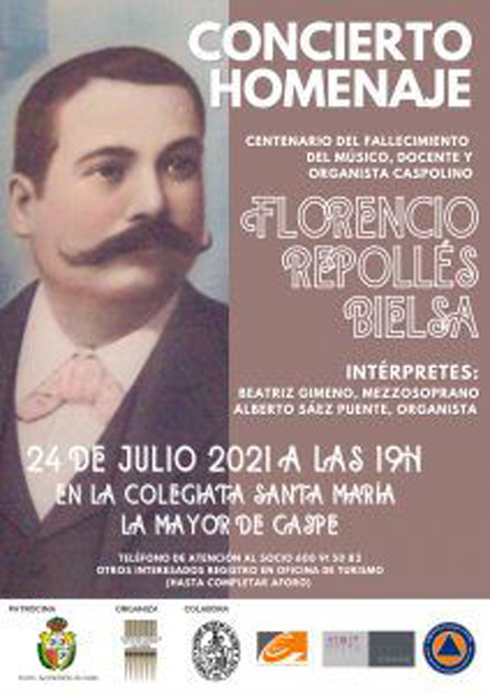 Concierto homenaje a Florencio Repollés Bielsa en Caspe