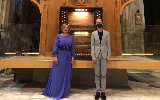 El órgano de la Colegiata de Caspe suena en homenaje a Florencio Repollés Bielsa
