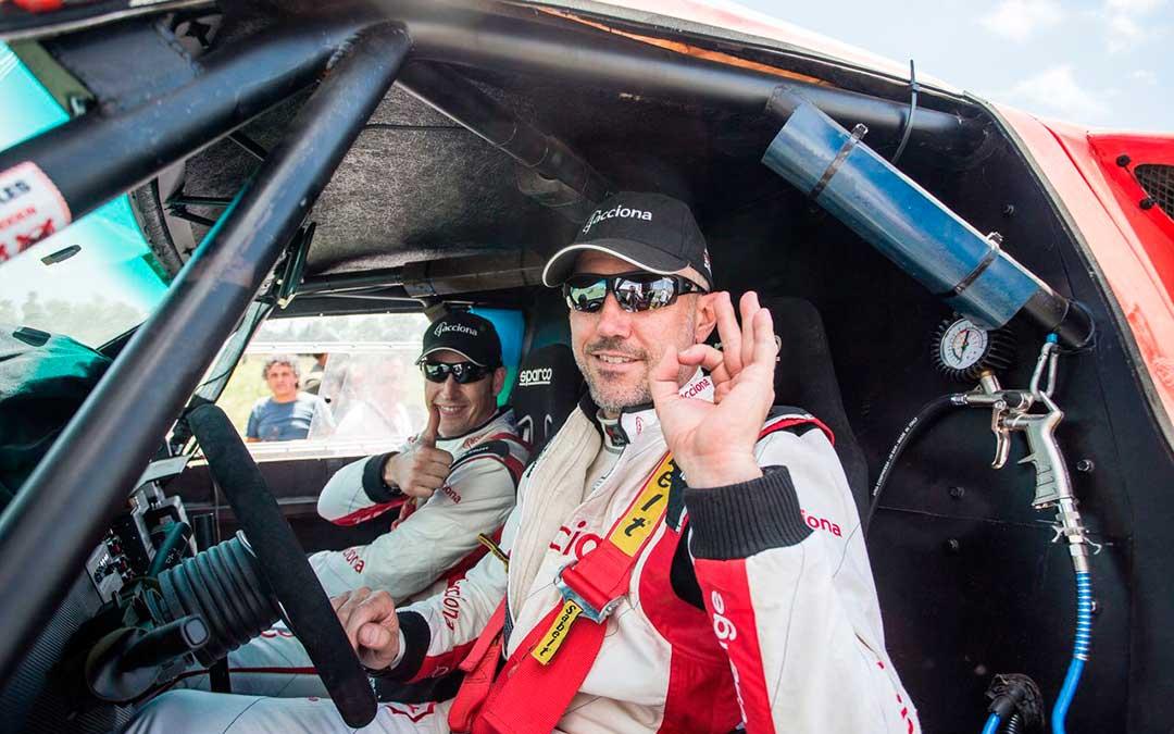 El gerundense fue pionero en participar en el Dakar con un coche eléctrico. A.B.