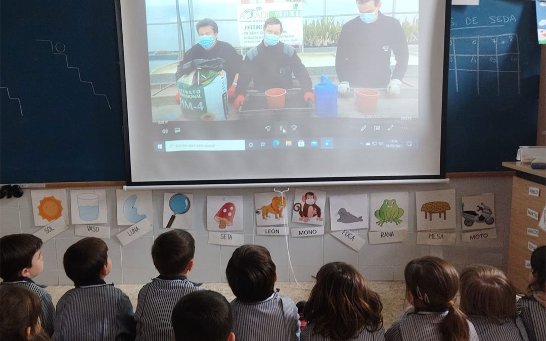 Vídeo tutorial sobre el cuidado de plantas./ Colegio San Valero