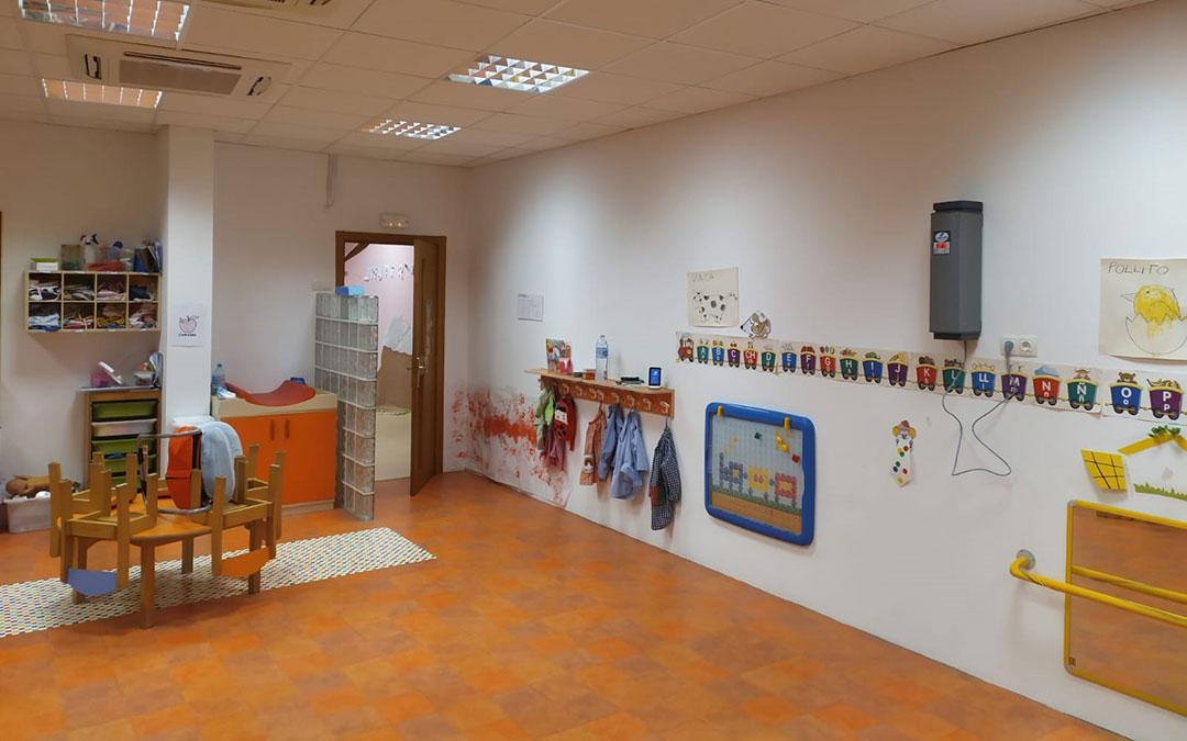 Aula de la Escuela Infantil de Aguaviva./ Ayto. Aguaviva
