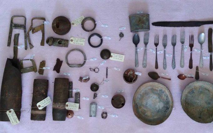 Más de 300 piezas, vestigios de la Guerra Civil en Dos Torres de Mercader