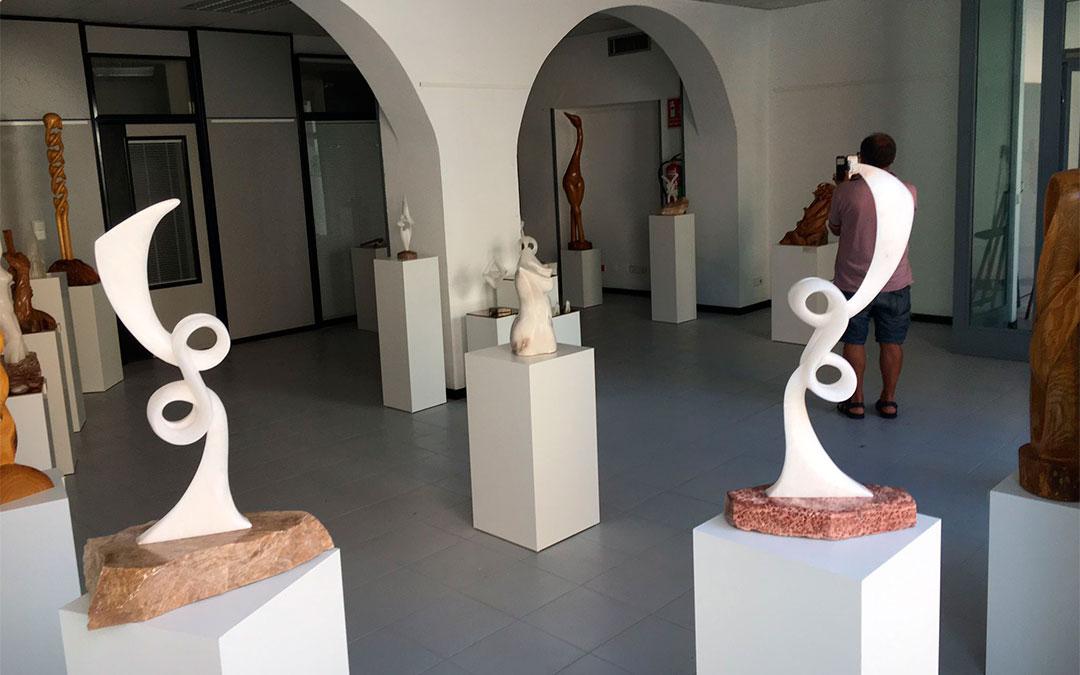 Algunas de las obras de Manuel Cirugeda que pueden verse en la exposición de Albalate,/ L.C.