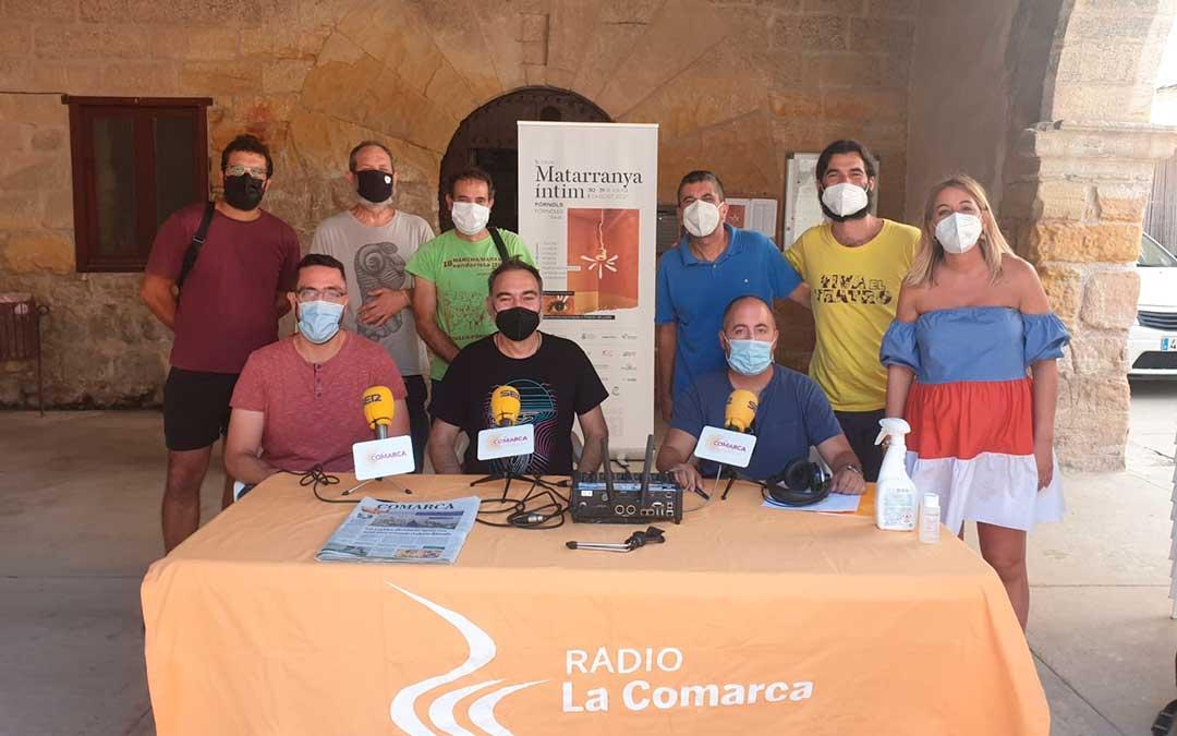 Participantes en el Especial Matarranya Íntim en Fórnoles.