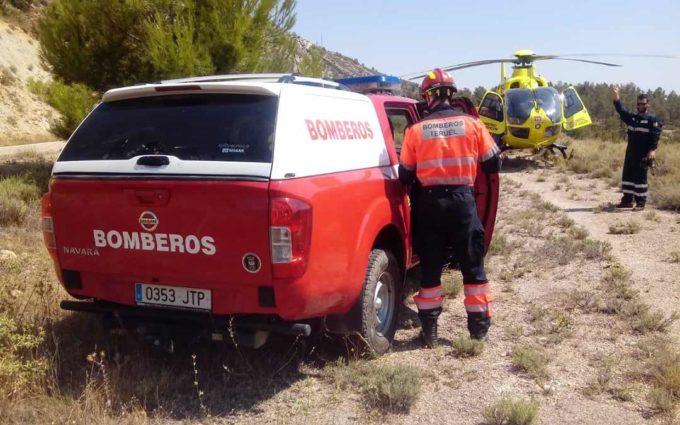 Herido grave tras caer su vehículo a un barranco entre Abenfigo y Castellote