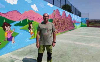 Un nuevo mural representa lo más característico de Chiprana