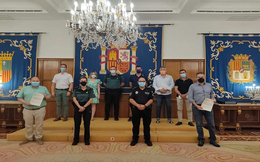 Junta de Seguridad celebrada en Teruel./I.U.