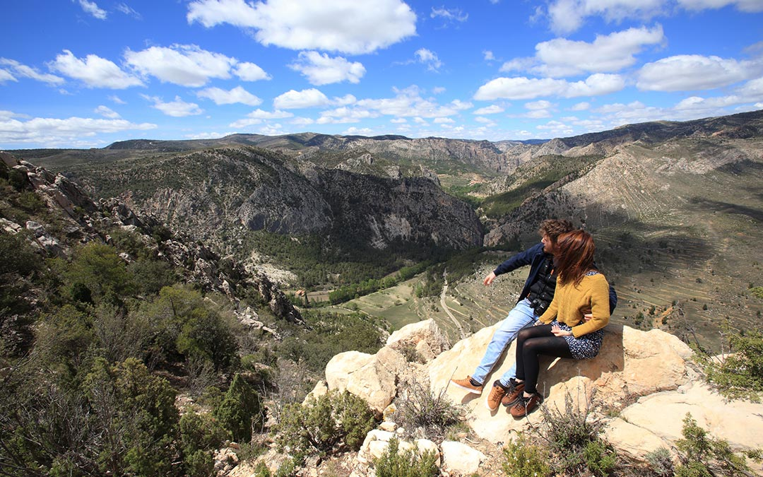 Vistas desde el Mirador de los Órganos de Montoro en Ejulve