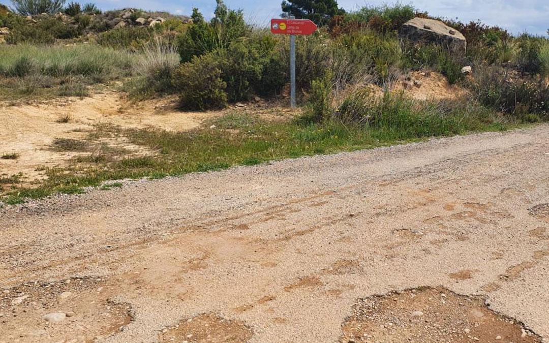 La pista se encuentra en muy mal estado / La Comarca