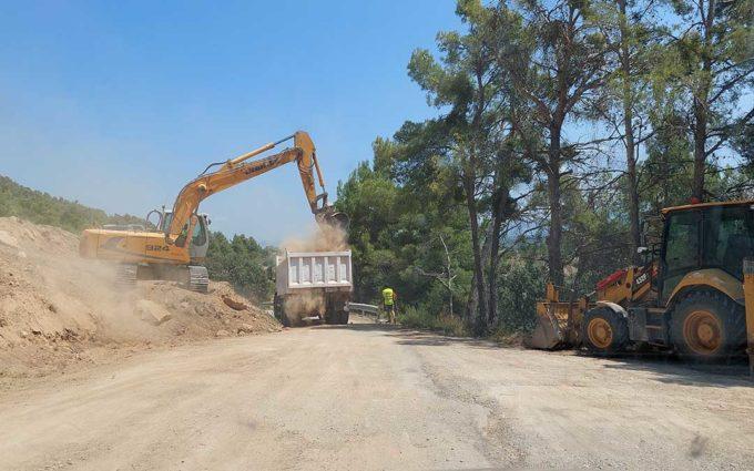 Arrancan las obras en un tramo de un kilómetro de la carretera de La Portellada