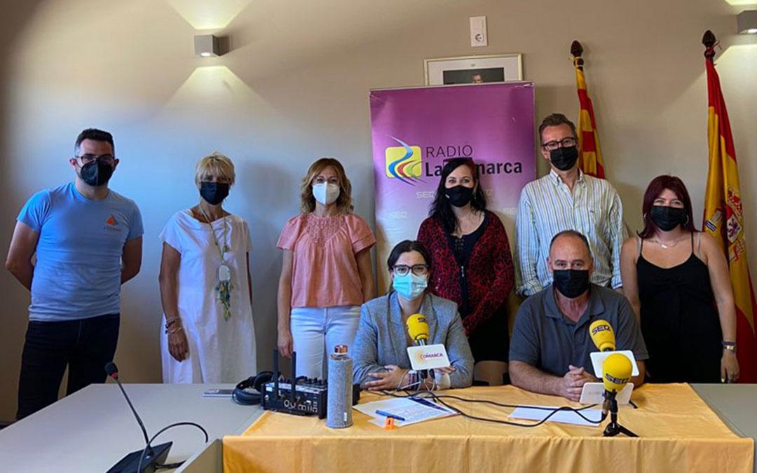 Invitados al programa especial de Radio La Comarca desde Alcorisa./ L.C.
