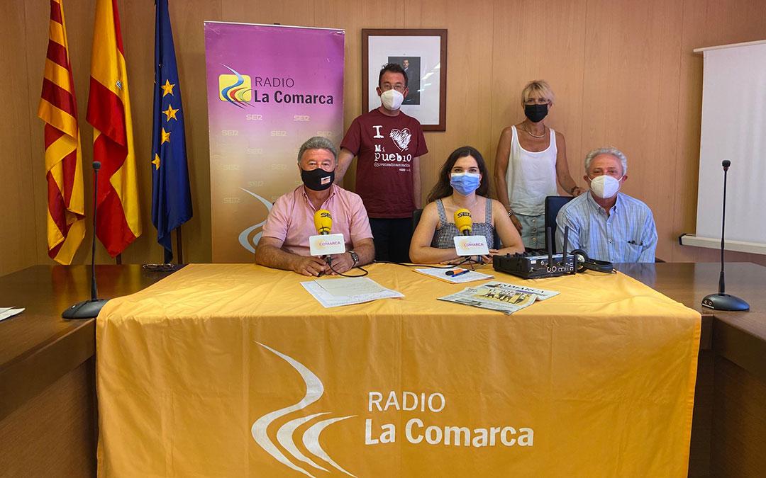 Invitados al programa especial de Radio La Comarca emitido desde la Comarca de Cuencas Mineras./ L.C