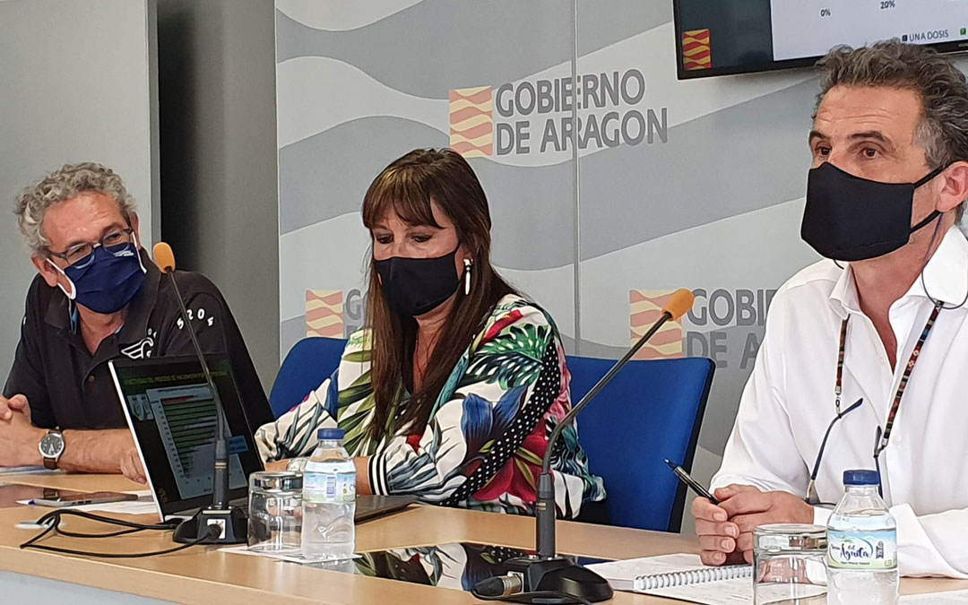 Rueda de prensa de la consejería de Sanidad en la que se ha anunciado que Aragón regresa este viernes al nivel 2 modulado / DGA
