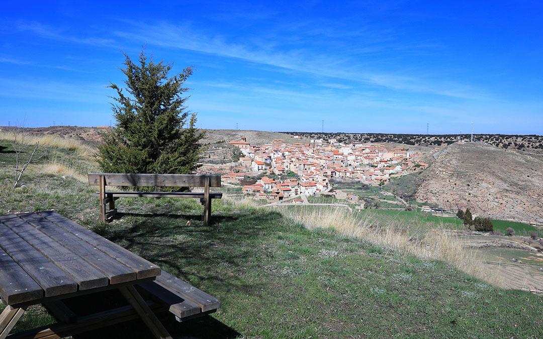 Vistas de Ejulve desde el Mirador de la ermita de Santa Ana