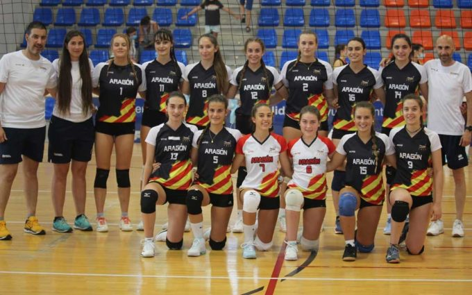 Las selecciones aragonesas de voleibol cadete e infantil femenino logran el objetivo marcado en el nacional celebrado en Valladolid