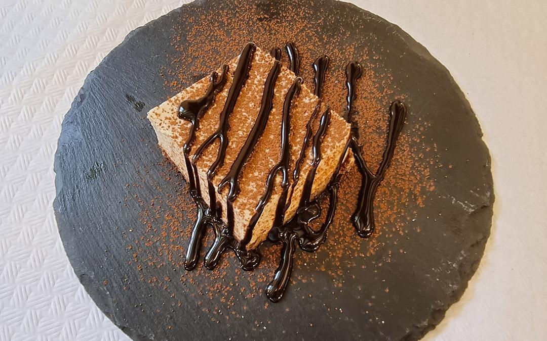 tarta de queso con chocolate en la parra aliaga
