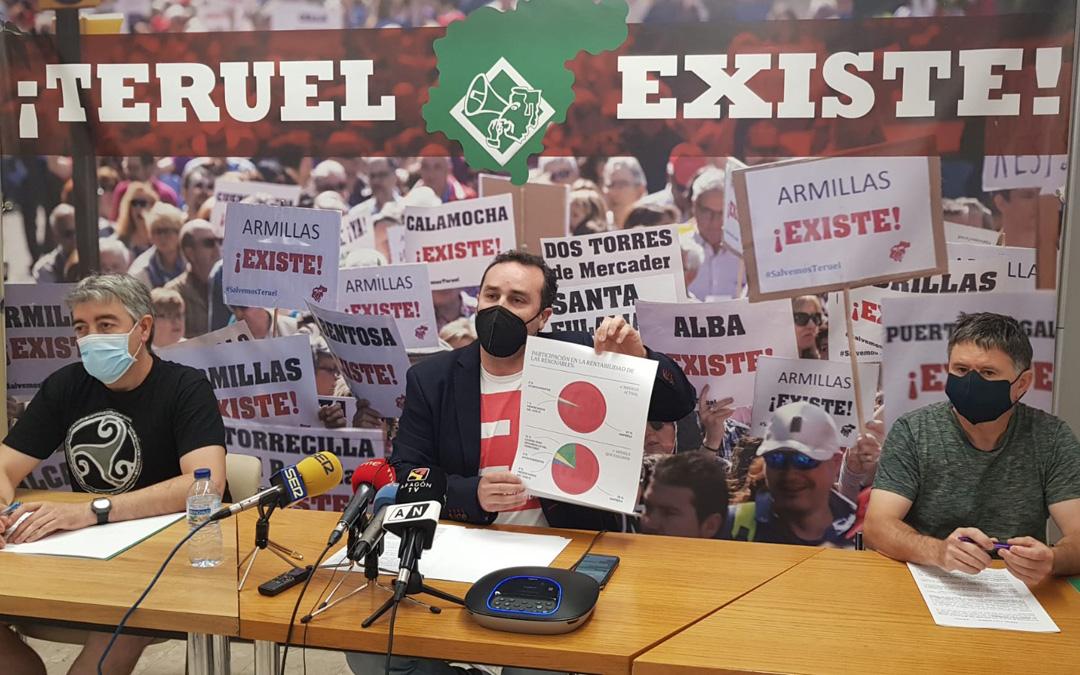 Rueda de prensa este jueves de Teruel Existe. / T. E..