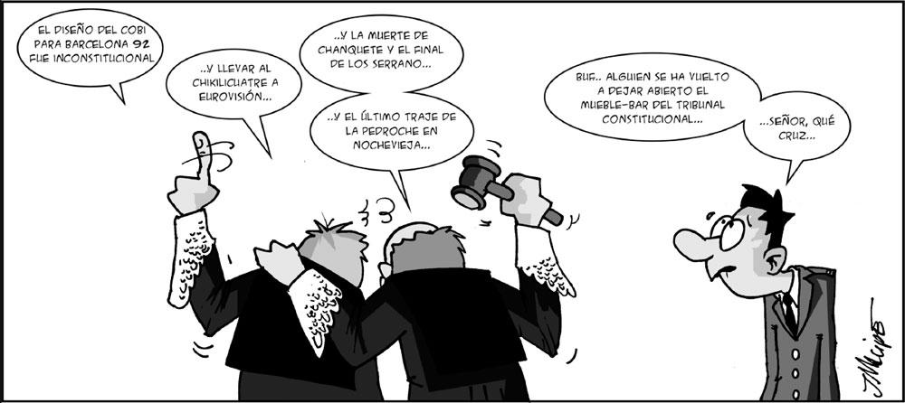 Humor gráfico - jueces tribunal constitucional