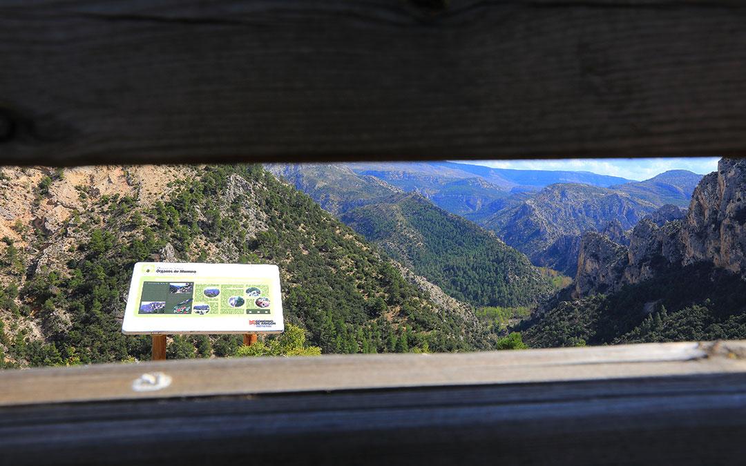 Visionado de los Órganos de Montoro desde el Mirador de Cueva Muñoz en Ejulve