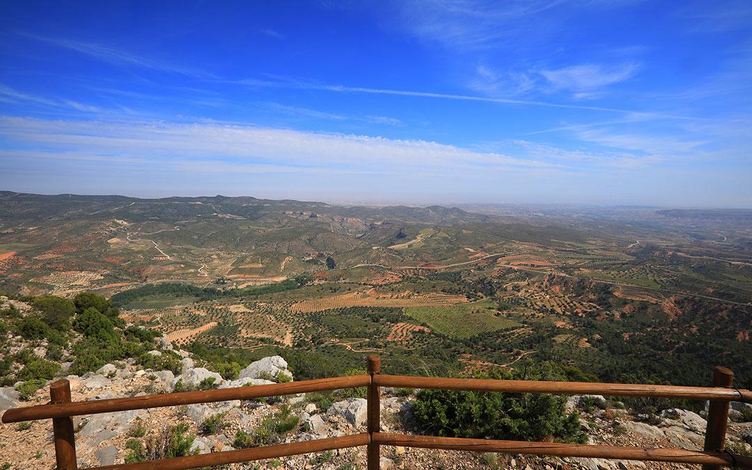 Vistas desde el Mirador Sierra de Arcos en Ariño