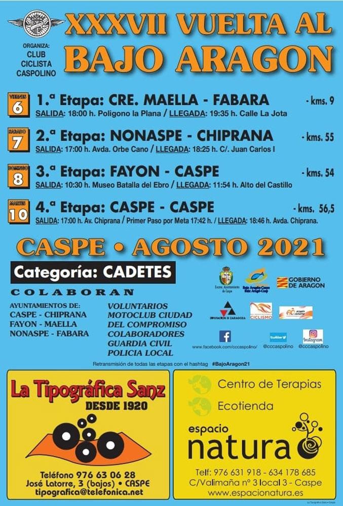 XXXVII Vuelta al Bajo Aragón - Caspe