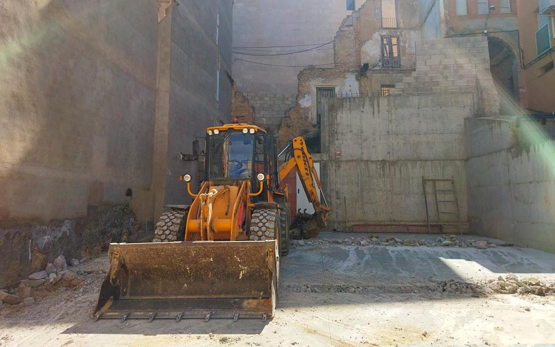 Obras en la calle chorrío de Caspe / Ayuntamiento de Caspe