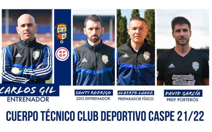 El CD Caspe renueva al cuerpo técnico del ascenso a tercera