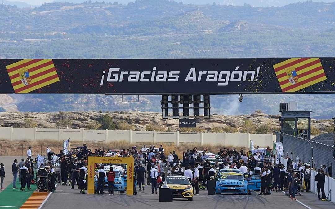 El WTCR llega por segunda vez al trazado alcañizano. Foto. Motorland Aragón