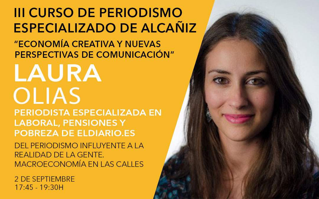 Laura Olías, periodista especializada en Laboral, Pensiones y Pobreza de Eldiario.es / L.C