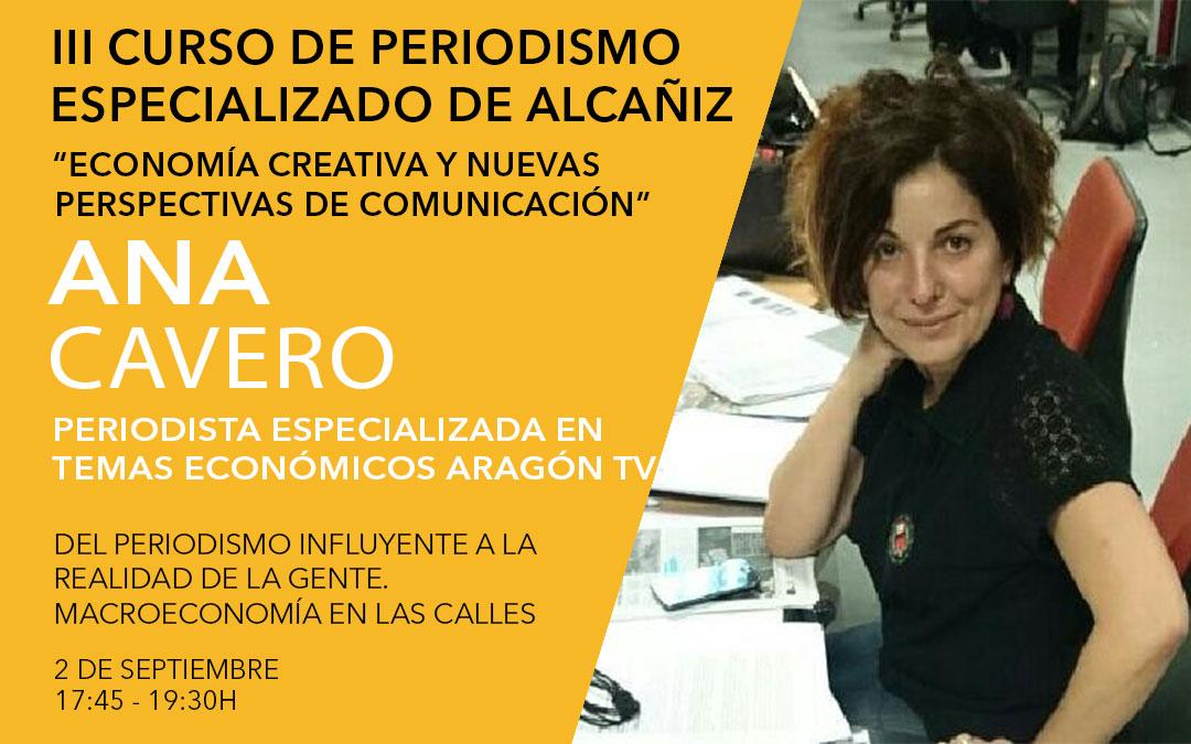Ana Cavero, periodista especializada en temas económicos en Aragón TV / L.C