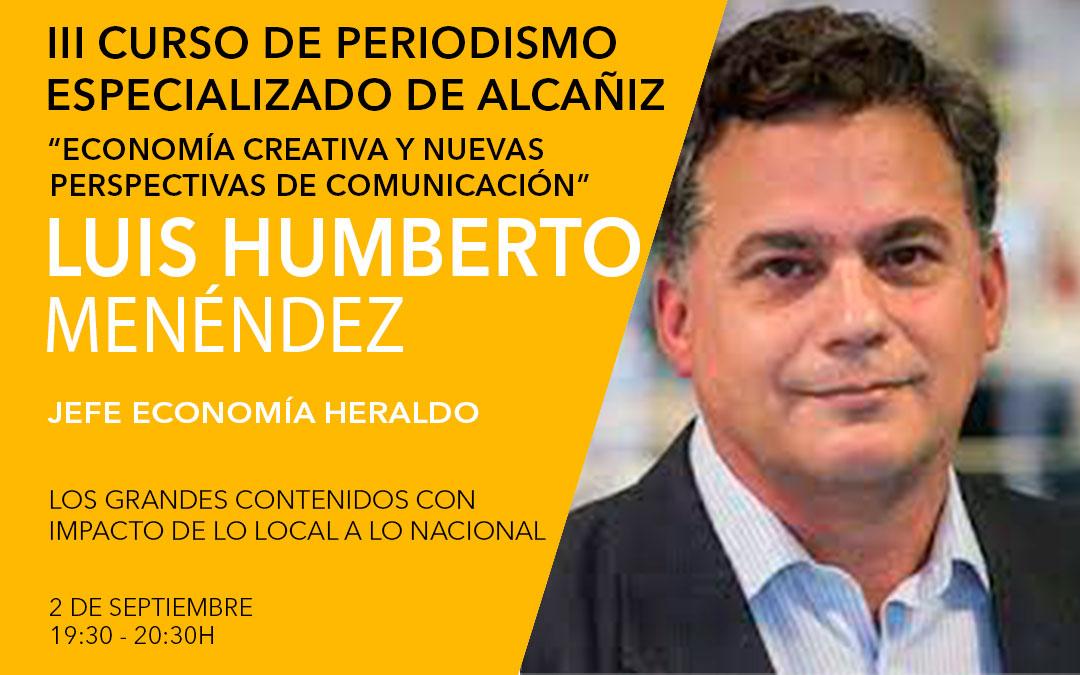Luis Humberto Menéndez, jefe de economía en el Heraldo de Aragón / L.C.