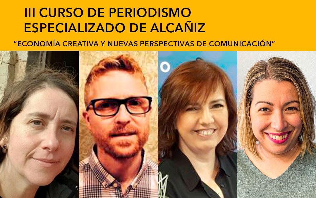 Alicia Royo (Diario de Teruel), Jorge Heras (El Periódico de Aragón), Marisa Yubero(Aragón Radio) y María Quílez (La Comarca) / L.C