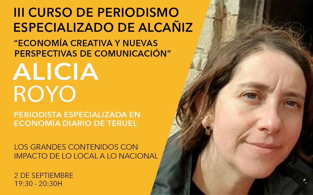 Alicia Royo, periodista especializada en economía en el Diario de Teruel / L.C