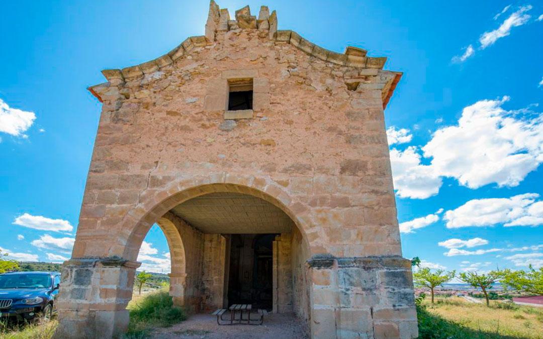 Fachada de la Ermita de San Gregorio en Aguaviva / Lista Roja Hispania Nostra