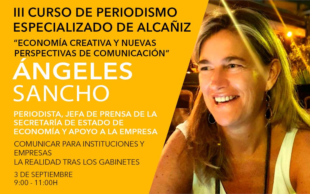 Ángeles Sancho Martínez, jefa de prensa en Secretaría de Estado de Economía y Apoyo a la Empresa en Ministerio de Economía / L.C.
