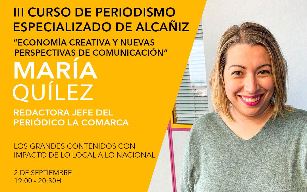 María Quílez, redactora jefe del periódico La COMARCA / L.C.