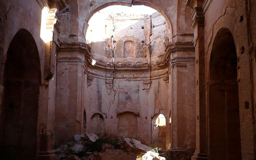 Escombros en el interior del convento / Lista Roja Hispania Nostra