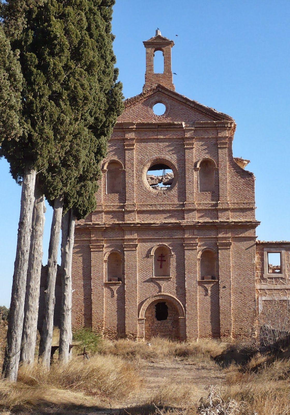 Fachada del Convento de Nuestra Señora de los Ángeles en Calanda / Lista Roja Hispania Nostra