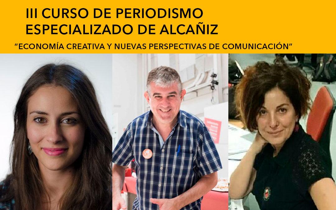 Ana Cavero (Aragón TV), Eduardo Bayona (Publico.es y Diario.es) y Laura Olías (ElDiario.es) / L.C