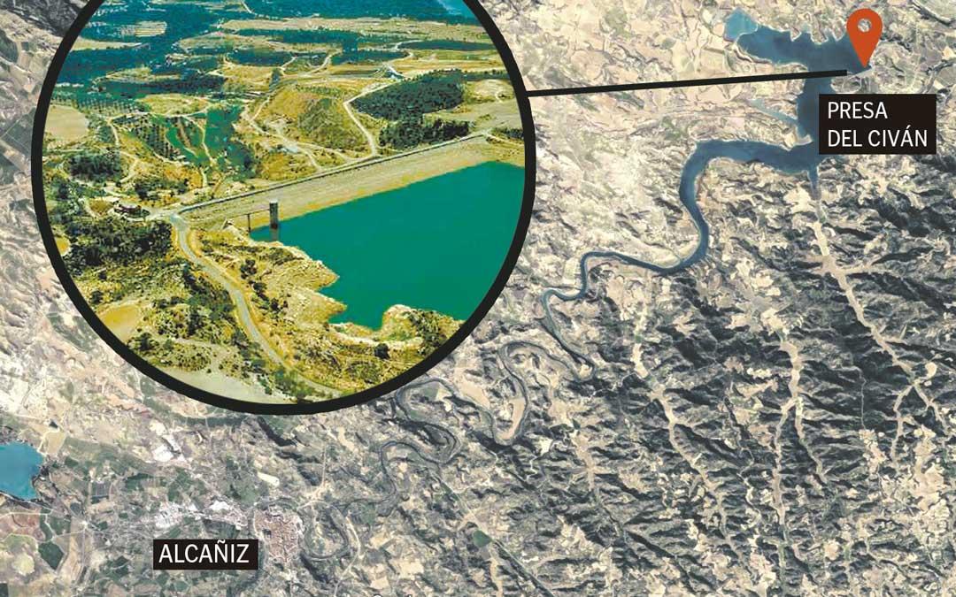 Localizador de la presa de Civán / La COMARCA