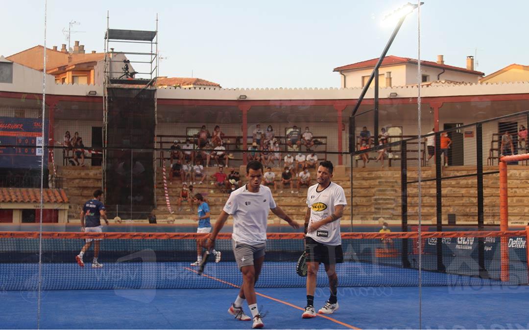 Adrián Allemandi y 'Coki' Nieto vencieron la segunda semifinal del 'TAU Cerámica Calanda Challenger (Trofeo Ciudad de Alcañiz)'/ Eduard Peralta