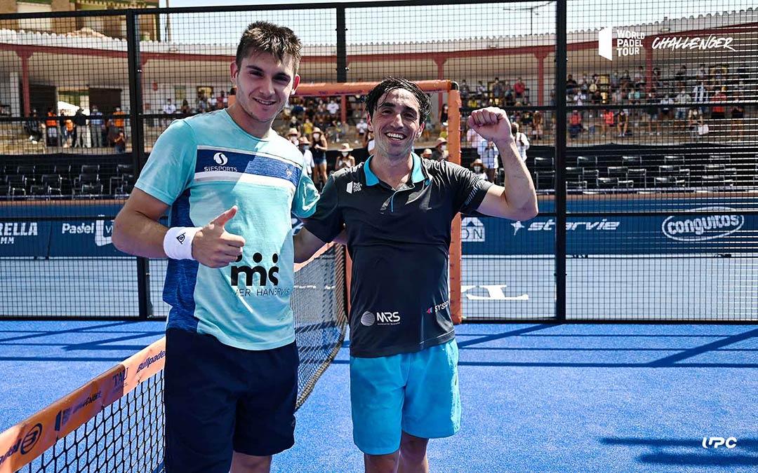 Tomás Perino y Arnau Ayats (cabezas de serie número 21) dieron la sorpresa y se clasificaron para la final del Calanda Challenger incluido en el World Padel Tour / Germán Pozo