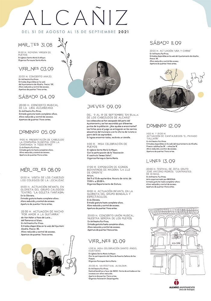 Actos Culturales Alcañiz Septiembre 2021