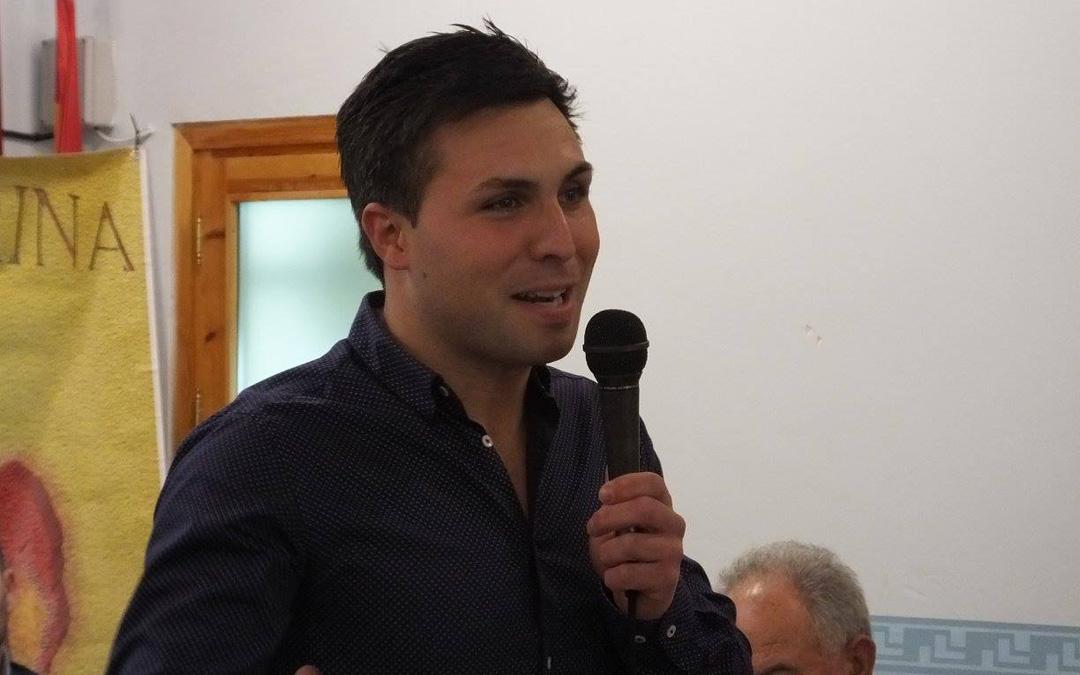 David Cortés, en febrero de 2017 cuando fue reconocido por la recién constituida Peña Taurina de Albalate del Arzobispo. Es uno de los socios de honor. / Peña Taurina