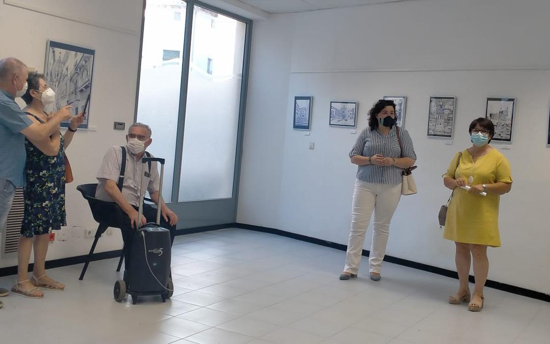Un momento de la inauguración de la exposición de Inmaculada Félez. / Ayto. Albalate