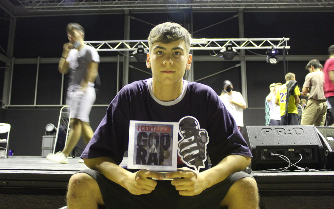 Luca, flamante ganador del I 'God of Rap' de Alcañiz. / B. Severino